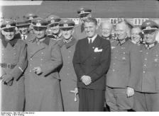 Wernher von Braun and Walter Dornberger, Peenemünde, 1941